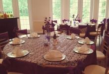 Table done in Purple