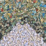 """Chris Jordan's """"Gyre"""" depicts 2.4 million pieces of plastic, equal to the estimated number of pounds of plastic pollution that enter the world's oceans every hour."""