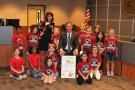 Dr. Don Stockton, Superintendent of the Conroe Independent School District, began the 11th year of the District-wide initiative, Read for a Better Life, by reading to students from Mrs. Johnson's second grade class from Rice Elementary at the September 19 Board of Trustees Meeting.