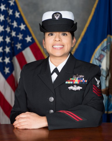 USS John C. Stennis (CVN 74) recently announced Yeoman 1st Class Petty Officer Noelia Perez, from Houston, as the ship's Senior Sailor of the Year.