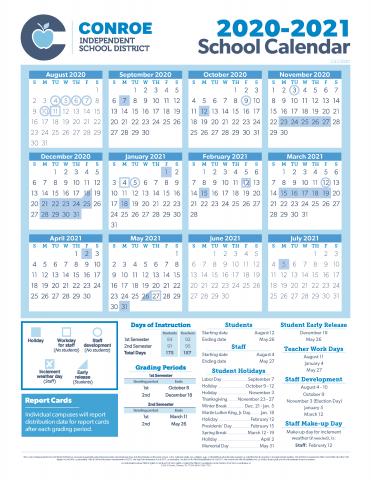 Conroe ISD Trustees Approve 20 21 School Calendar | The Paper