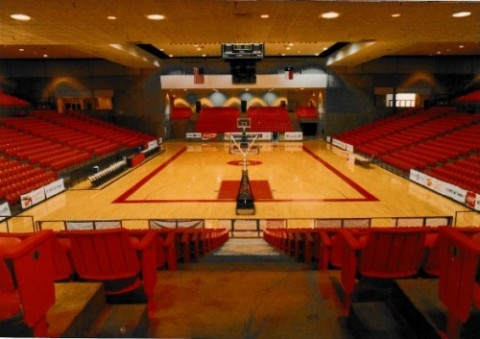 A look inside the Wilkerson Greines Activity Center where the Whataburger Basketball Tournament was once held.