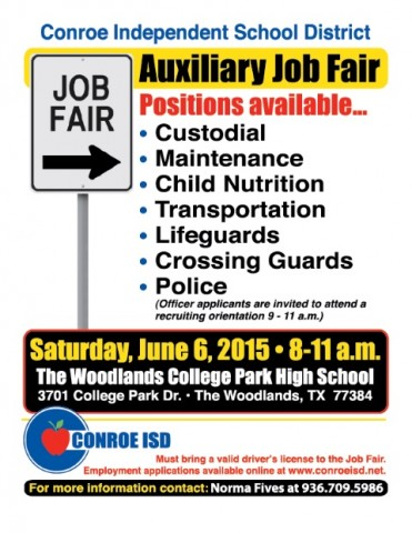 conroe isd to host auxiliary job fair the paper magazine