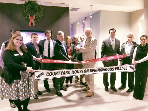 Woodbine Development Corporation and InterMountain Management hosted the grand opening and ribbon cutting of the new 125-room Courtyard by Marriott in Spring, Texas on Thursday, December 9.