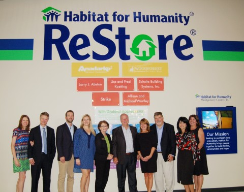 Habitat for Humanity of Montgomery County, TX recently hosted a reception to unveil the new donor wall featured at its ReStore home improvement resale shop