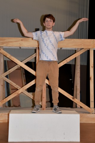 "Lone Star College-Montgomery student and actor Matthew Young rehearses flying for the drama production of ""The Rise and Rise of Daniel Rocket."" There will be a preview Wednesday, Nov. 15 at 5:30 p.m. and the show runs Thursday, Nov. 16 – Sunday, Nov. 19 at 7 p.m. with a special matinee performance Sunday at 3 p.m."