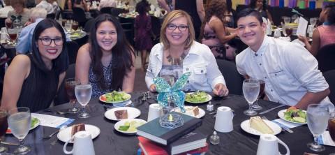 Diana Sanchez (scholarship recipient) and family.