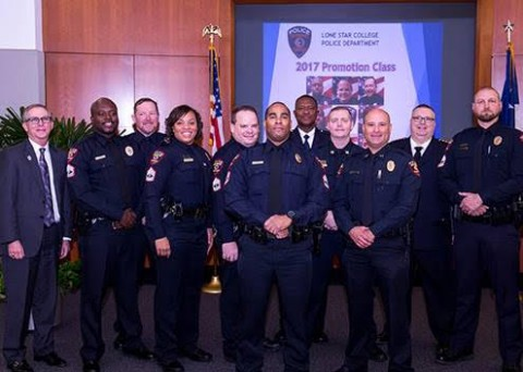 f9cb545db5 The Lone Star College Police Department celebrated the promotion of two new  captains and six new