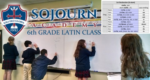 At Sojourn Academy, Latin is a required subject beginning in Third Grade.