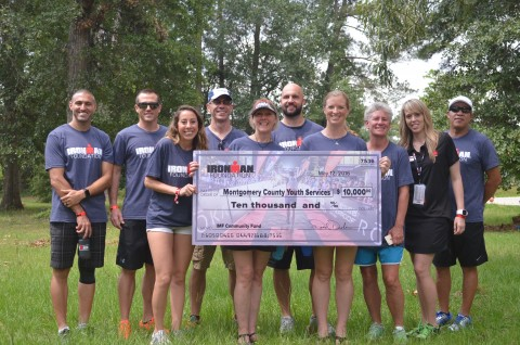 Montgomery County Youth Services received a $10,000 Community Grant from The IRONMAN Foundation.  Members of the team presented the check and interacted with youth at the MCYS BridgeWay Emergency Shelter.