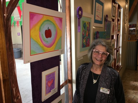 "Angela Colton, executive director of The Woodlands Children's Museum, invites the public to join her to view and enjoy the ""Making A Mark"" touring exhibit of art and writings from patients at Texas Children's Cancer and Hematology Centers, which will be on display at the museum through Jan. 6, 2018."