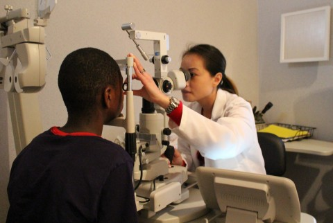 Spring ISD students received eye examinations from Dr. Michelle Pham and other staff at America's Best Contacts & Eyeglasses.