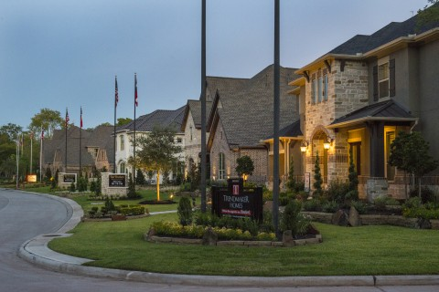 Johnson Development is the Houston area's most active developer, with 2,714 new homesites introduced from October 2016 through September 2017. Shown is a model home park in Sienna Plantation.