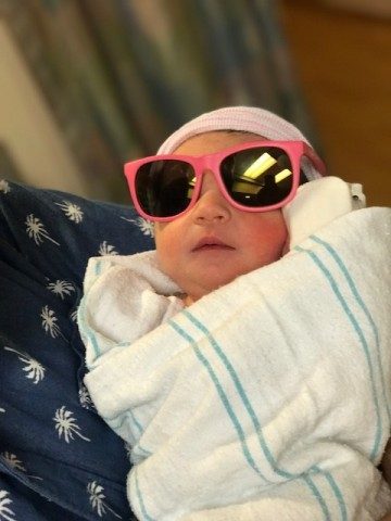 Baby Stella, one of the eclipse babies born at Memorial Hermann The Woodlands.