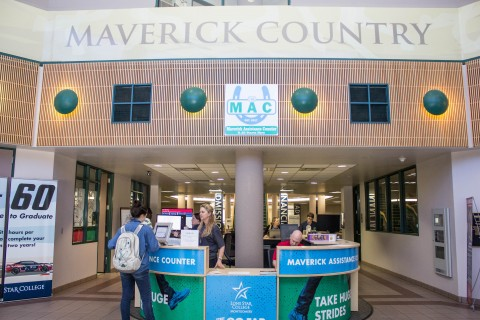 Lone Star College Montgomery Recently Opened The Maverick Assistance Counter MAC