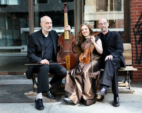 "Trio Settecento, comprised of, from left, violinist Rachel Barton Pine, harpsichordist David Schrader and Baroque cellist John Mark Rozendaal, will present a program titled ""Handel's Violin"" on Feb. 11, 2018, as a part of the 2018 Houston Early Music Festival."