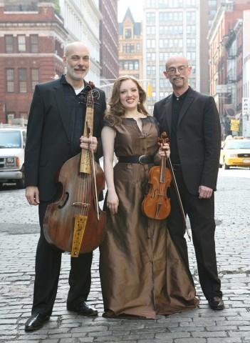 Trio Settecento, comprised of, from left, Baroque cellist John Mark Rozendaal, violinist Rachel Barton Pine and harpsichordist David Schrader