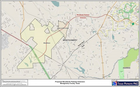 The Woodlands Parkway Expansion map.