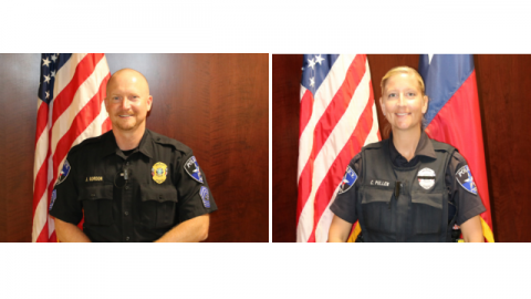 Sergeant Detective Gordon and Sergeant Courtney Pullen.