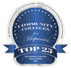 Lone Star College has been named a Top 25 college for Hispanics by The Hispanic Outlook in Higher Education Magazine.