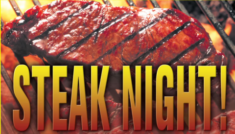 Steak Night is Wednesday!!!