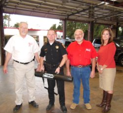 Milstead donates Door Knocker to Constable Ryan Gable, Precinct 3